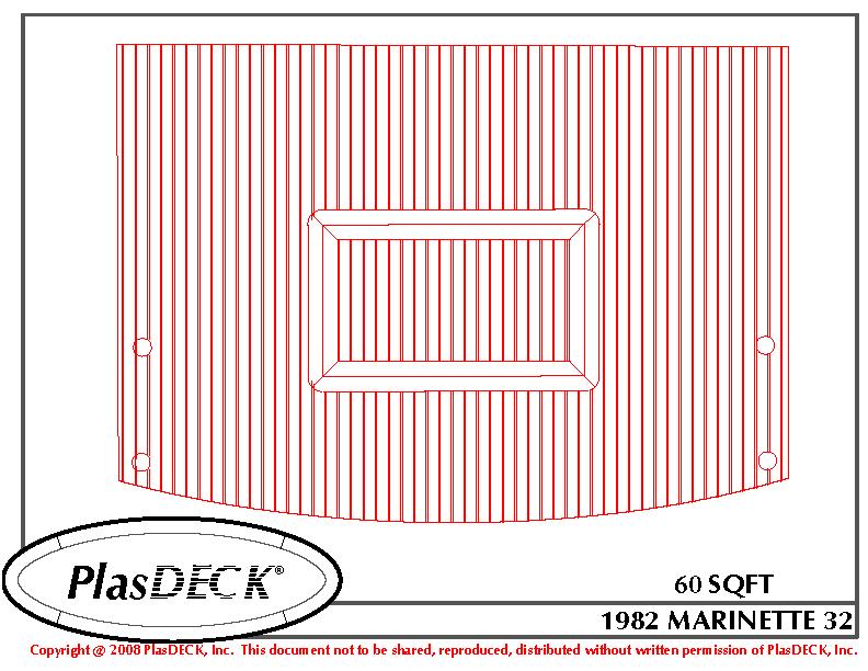 1982-marinette-32-plasdeck-teak-boat-deck
